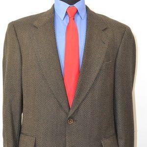 Cavelli 42R Sport Coat Blazer Suit Jacket Brown Bl